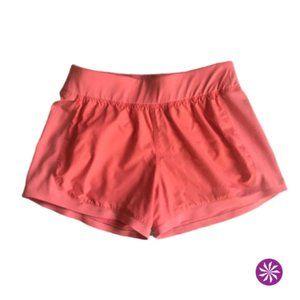 Orange Athleta Workout Shorts